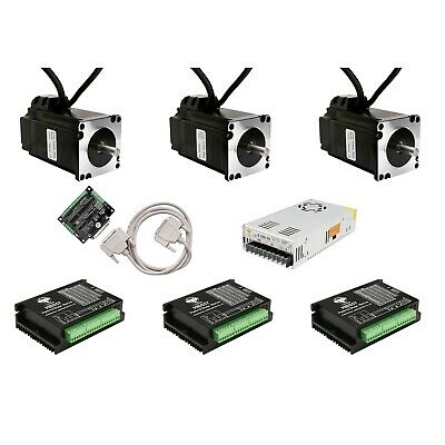 Free Ship 3axis NEMA23 Closed-Loop Stepper motor kits 4A 425oz.in&Driver CNC kit