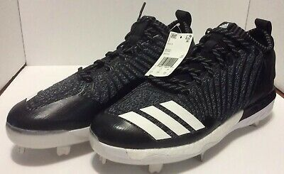 NEW adidas Boost Icon 3 Metal Baseball Cleats PK Grey White Black SZ 10.5  OREO 1fcab1324