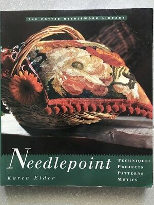 Needlepoint Book by Karen Elder Softcover AS IS