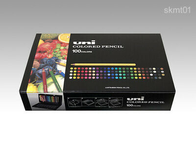 MITSUBISHI UC100C Premium Colored Pencil 100 Colors Box set from Japan DHL Fast