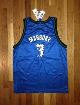 7b1416053 vintage stephon marbury minnesota timberwolves champion jersey youth size  XL NWT