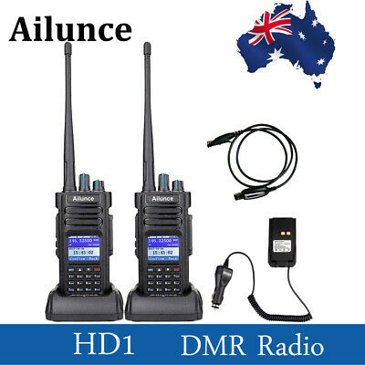 2XAilunce HD1 Dual Band DMR DCDM TDMA 10W Transceivers Walkie Talkie  Radio AU