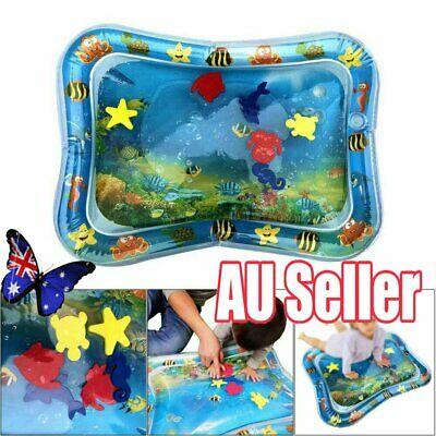 Baby Water Play Mat Inflatable For Infants Toddlers Fun Time Play Activity JO