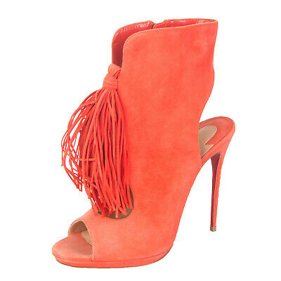 new style a5ac4 23557 CHRISTIAN LOUBOUTIN LEATHER Bootie Sandals Size 38.5 UK 5.5 Tassel Made in  Italy