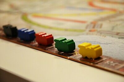 Ticket To Ride Board Game  Wooden Markers Trains Scoring Trackers 5pcs