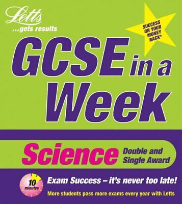(Very Good)1840853409 Science (Revise GCSE in a Week),Kevin Byrne,Paperback,Lett
