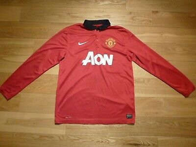 87617040e Mens Nike Manchester United Long sleeves Home football shirt 2013 - 2014 Size  L