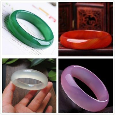 Chinese 100% Natural Agate JADE Jadeite Bead Beads Bangle Bracelet Size56mm-62mm