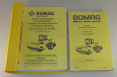 Operating Instructions Maintenance Manual Parts Catalog for Bomag Bw 213 Dh-4