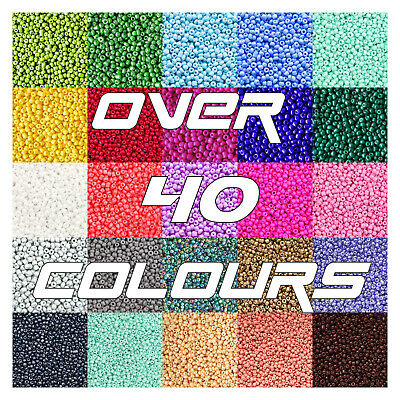 ❌Sale❌12/0 Czech Glass Seed Beads 2Mm Over 80 Colours 50G Bags (2000 Beads) :)