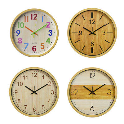 12'' Large Vintage Silent Analogue Round Wall Clock Home Bedroom Kitchen Quartz