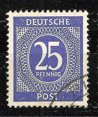 GERMANY 1946 NUMERAL 25 Pf.  SCOTT #545 USED