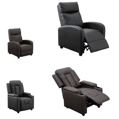 Heated Leather Massage Recliner Chair Sofa Lounge Gaming Home Armchair