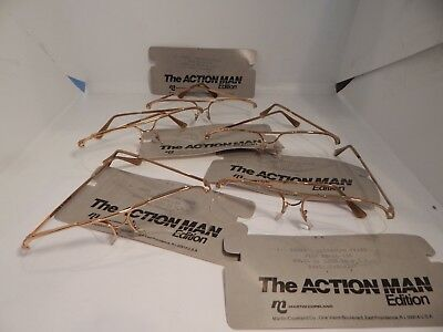 Vintage 5 pc. Martin Copeland Turbo Gold 58/16 Eyeglass Frame Lot NOS #305