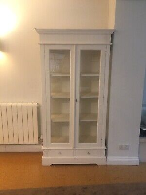 Cream french style/ shabby chic double glass display cabinet   CHESHIRE