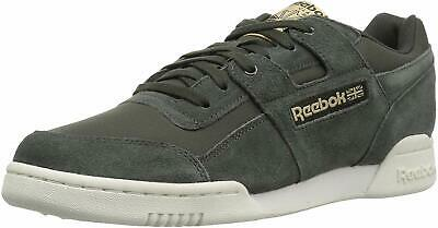 2b99a0cca245d REEBOK MENS WORKOUT Plus Leather Low Top Lace Up Fashion Sneakers ...