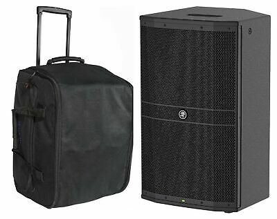 """Mackie DRM212 12"""" 1600w Professional Powered DJ PA Speaker+Rolling Carry Case"""