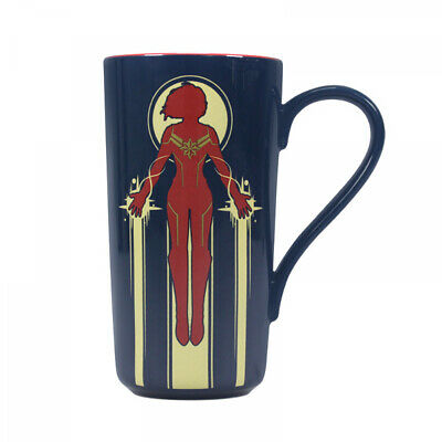 Official Marvel Comics Captain Marvel Latte Coffee Mug Cup New In Gift Box