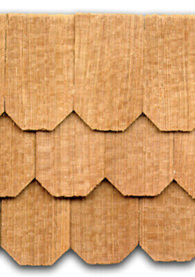"Dollhouse Roofing Hand Split Cedar Square Shingles 140 Pcs 1/"" Scale #CLA70254"