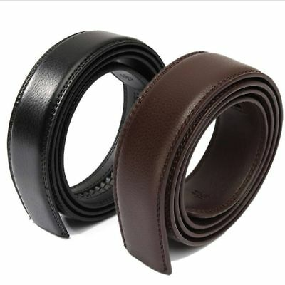 Brown Black Men's Ribbon Without Buckle Leather Strap Waist Belt Waistband