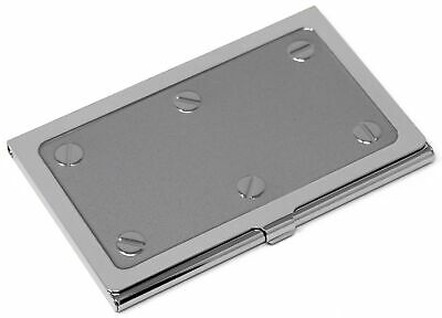 Silver Industrial Slim Business Card Holder