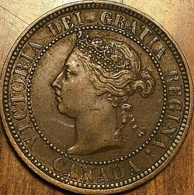 1888 CANADA LARGE CENT LARGE 1 CENT PENNY - Excellent example!