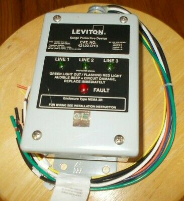 Leviton Transient Voltage Surge Suppressor 42120-Dy3 For 120/208V