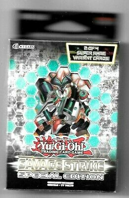 YuGiOh Savage Strike Special Edition 3 Pack Booster Box 2 promos NEW Fast Ship