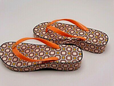 d95a133a87ffa Tory Burch Printed Carved Wedge Flip-Flop Fresh Melon ballet Pink Octagon  Size 8