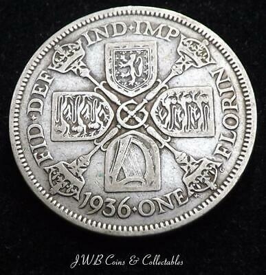 1936 George V Silver Florin Coin - Great Britain,