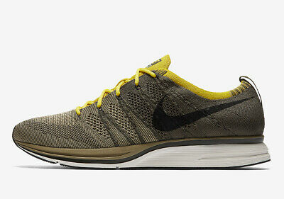 705b39f404202 Nike Flyknit Trainer CARGO KHAKI GREEN OLIVE BLACK WHITE AH8396-300 Men  Running