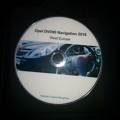 Opel DVD90 Navigation Map Update 2018 Europe DVD