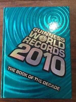 Collectable Retro Guinness Book Of Records Book Of The Decade 2010