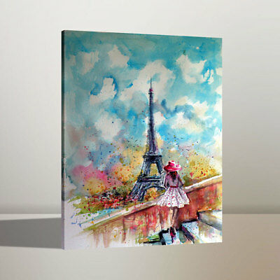 Summer Tower In Paris Home Wall Decor Art Oil Painting Canvas Print 24x34