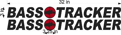 "BASS Tracker Retro Logos PAIR 24/"" Vinyl Vehicle Boat Decal Graphic Stickers"
