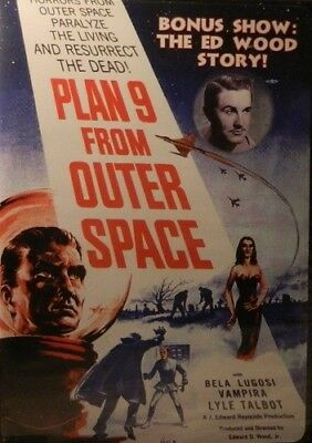 2 Movies PLAN 9 FROM OUTER SPACE(1959) + The ED WOOD STORY Bela Lugosi Vampira