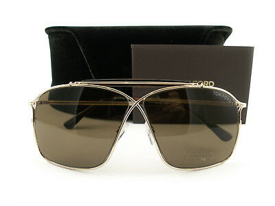 b043ffee818c TOM FORD SUNGLASSES TF194 Felix 28J Gold Brown FT0194 S Authentic ...
