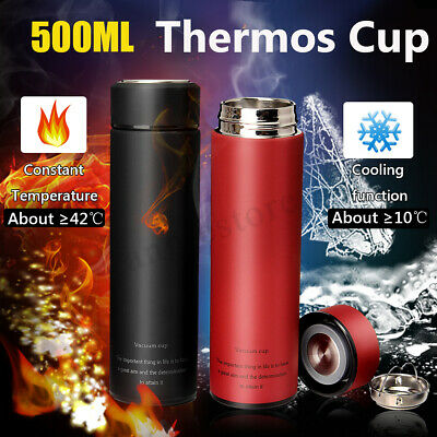 Stainless Steel Water Tea Coffee Flask Vacuum Bottle Thermoses Travel Cup 500ML