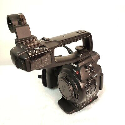 Canon EOS C100 Cinema Camera Body with two battery - 710h - USED