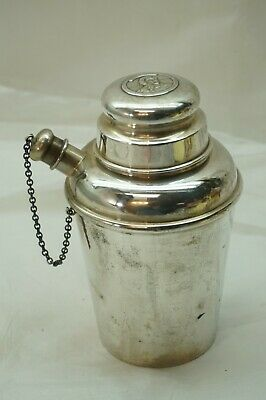 Sterling Silver Cocktail Shaker Antique Charles Goodyear 1839-1939 Reed Barton