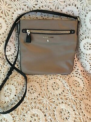 83d4ab38dbbd Michael Kors Nylon Kelsey large crossbody bag shoulder bag truffle khaki NWT   88
