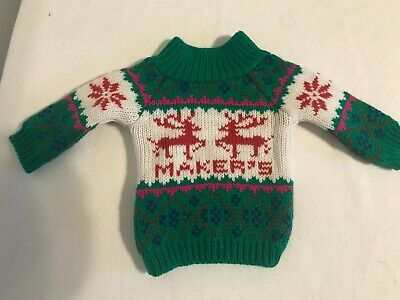 Makers Mark UGLY CHRISTMAS SWEATER 750 ml. BOTTLE COVER Holiday - NEW