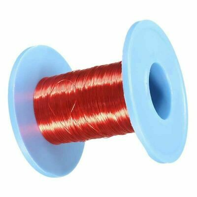 Red Magnet Wire 0.2mm Enameled Copper Wire Round Magnetic Coil Winding 100m