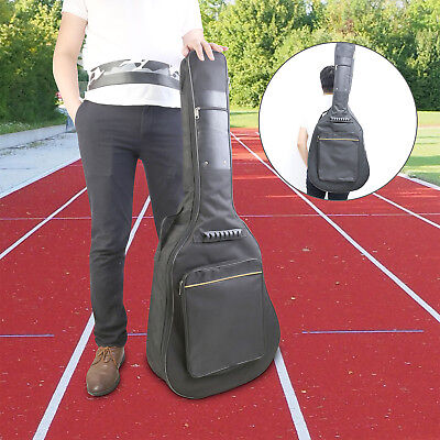 41'' Oxford Padded Electric Bass Guitar Gig Bag Case Double Straps Backpack UK