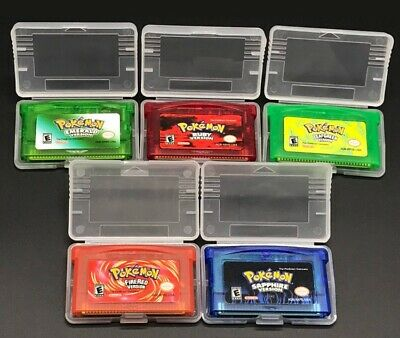 For Pokemon Gameboy Advance Game Bundle Fire Red Leaf Green Emerald Ruby New