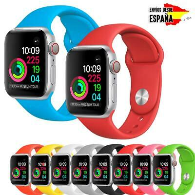 Correa Apple Watch Series 1/2/3/4 pulsera silicona colores iWatch 38-40 42-44mm