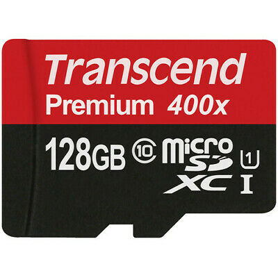 Transcend 128GB Premium microSDXC UHS-I Memory Card with SD Adapter #TS128GUSDU1