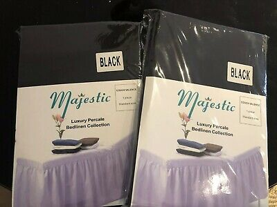 Majestic Couch Valence Black X2 Brand New In Original Package