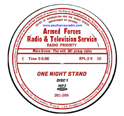 One Night Stand (214 Shows) Old Time Radio Mp3 6 Cd's