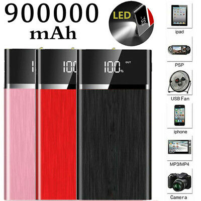 Fast Charging 500000mAh Outdoor LCD Portable Power Bank External Battery Charger